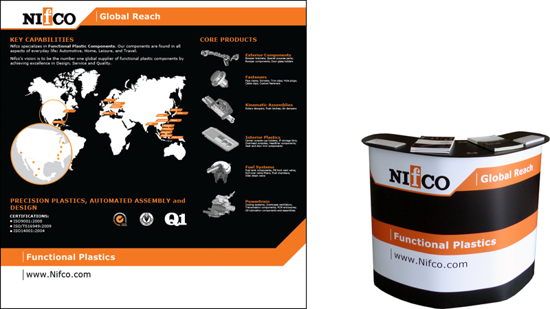 "Nifco America - ""BigFabric"" Dispaly and ""PodiumCase"" Kiosk"