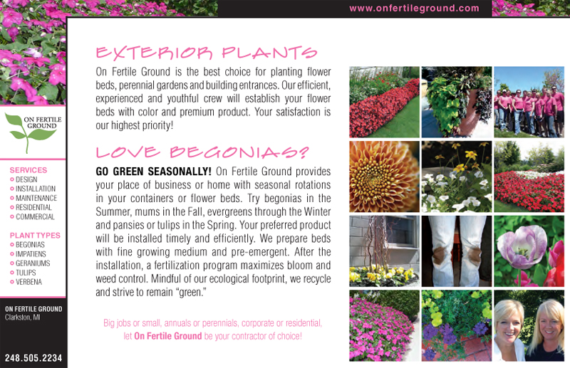 On Fertile Ground - Heath Care Flyer - Exterior