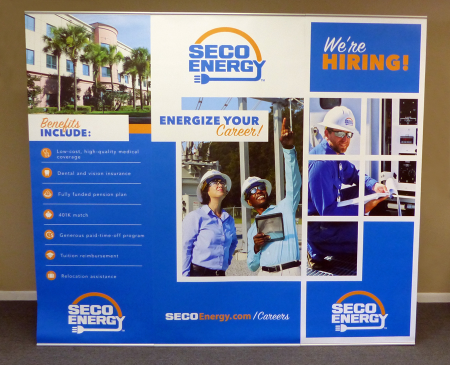 Seco Energy-BannerStand Display