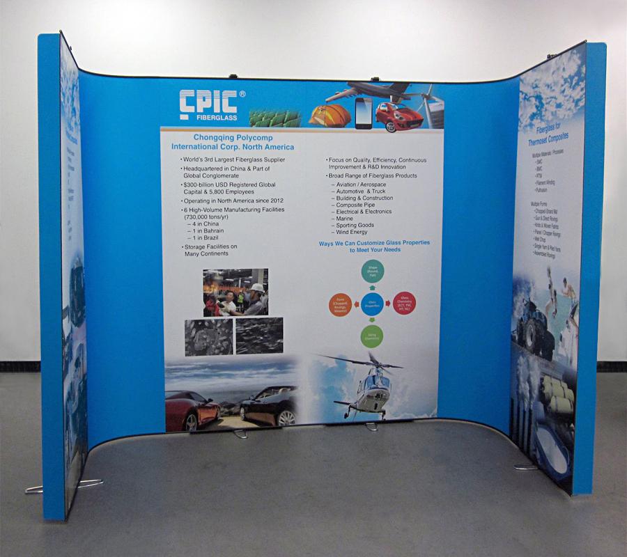 CPIC Fiberglass - LinkWall Backwall Display System - Front