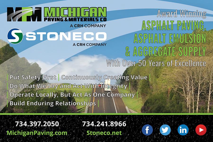Michigan Paving & Materials-Stoneco-Crossroads Quarterly Ad-April 2019